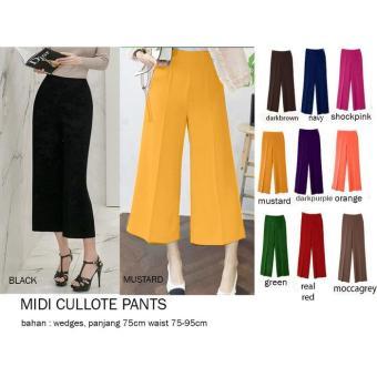Celana kulot wanita pendek terbaru Midi Kulot Pants / Midi Cullote Pants / Celana Midi Kulot