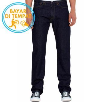 Celana Murah Jeans Regular Pria Garment Blue Black (Best Seller)