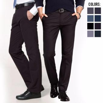 Ormano Dasi Skinny Slim Fit Casual Pria Kerja Kantor Kuliah Sekolah Pesta Tie Kemeja Simple Polos