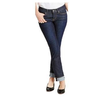 Celana Panjang Jeans Wanita Basic Denim Stretch Jeans - Blue Black