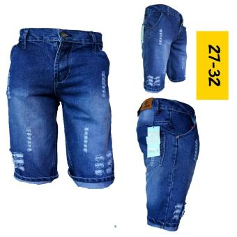 celana pendek cowok sobek kekinian terbaru trendy 2018