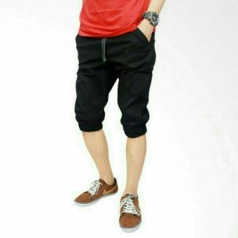 Celana Pendek Pria / Jogger Pendek / Jogger Pants /Jogger Pendek Hitam - Ri0s3m
