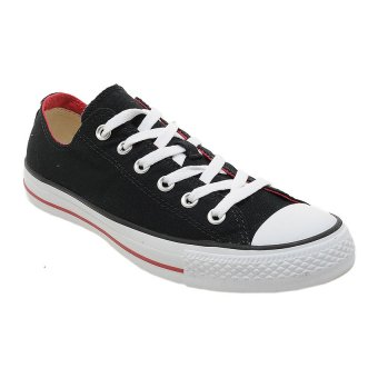Converse Chuck Taylor Double Tongue Low Top Sepatu Sneakers - Black Red c8747bcbdb