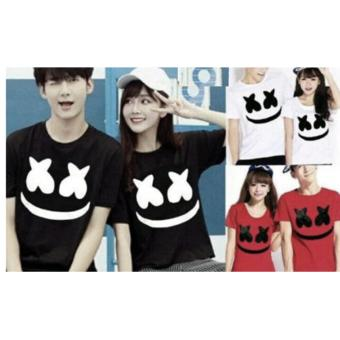 couple store cs - kaos pasangan / t-shirt couple x_x marsmellow white