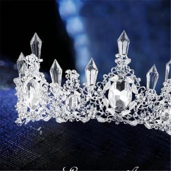 (Diimpor) BEST-MGJKU Crown Hoop Bridal Austria Crystal Rambut Tiara Pernikahan Tiara Ladies