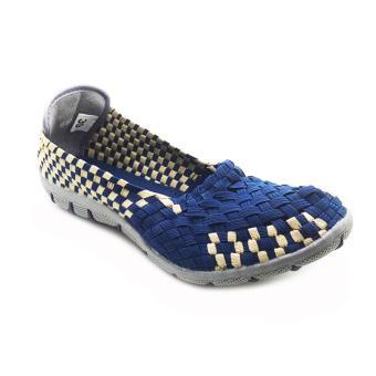Cyntia Sepatu Anyaman X42008 - Biru