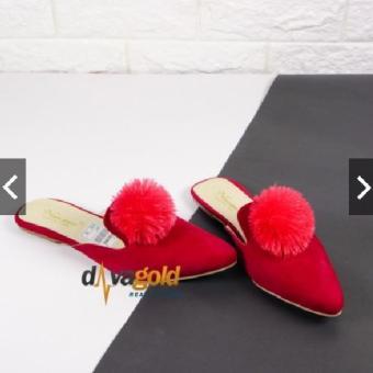 ... Davagold Sandal Teplek Slop Wanita Pom pom Dava