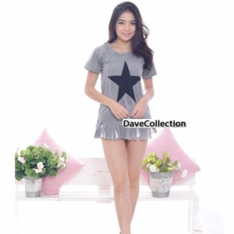 DaveCollection - Blouse Star Rumbai - Abu Abu