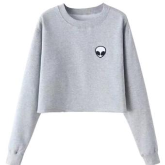 DaveCollection - Sweater Alien Crop Simple 2w