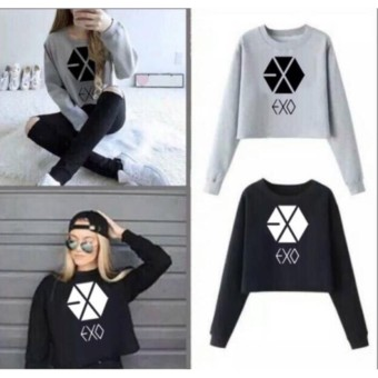 DaveCollection - Sweater Crop EXO Long Sleeve