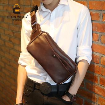 Desain merek baru maupun Korea dada bag tas kecil keren bahu priasingle crossbody bag ransel kecil
