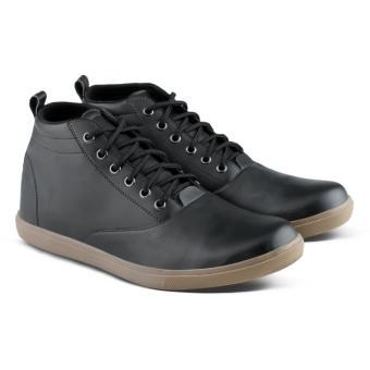 harga Distro Bandung VDB 061 Sepatu Boot Casual Pria bisa untuk kerja kantor formal - Hitam Lazada.co.id