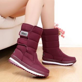 Ditambah beludru tahan air hangat tebal berlapis kapas sepatu wol sepatu boot sepatu salju (Model
