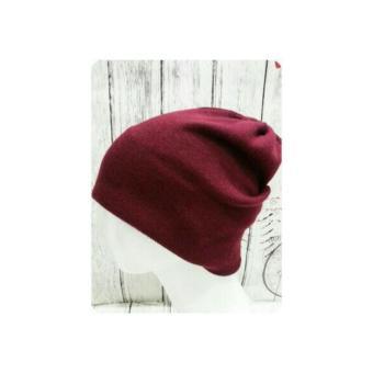 Divajaya shop-topi kupluk beanie hat Pria dan Wanita-maroon