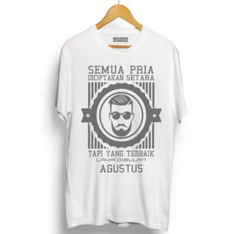 Do More Store Kaos Distro Pria Terbaik Lahir Agustus Abu- Abu Premium