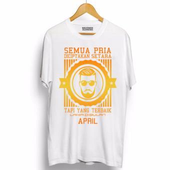 Do More Store Kaos Distro Pria Terbaik Lahir April Gold - Premium