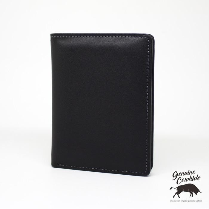 dompet kulit asli model tegak hitam