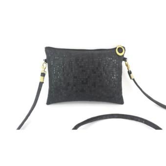 Fitur Tas Selempang Kulit Wanita Motif Gliter Woman Bag Minimalis ... e91bf502a2