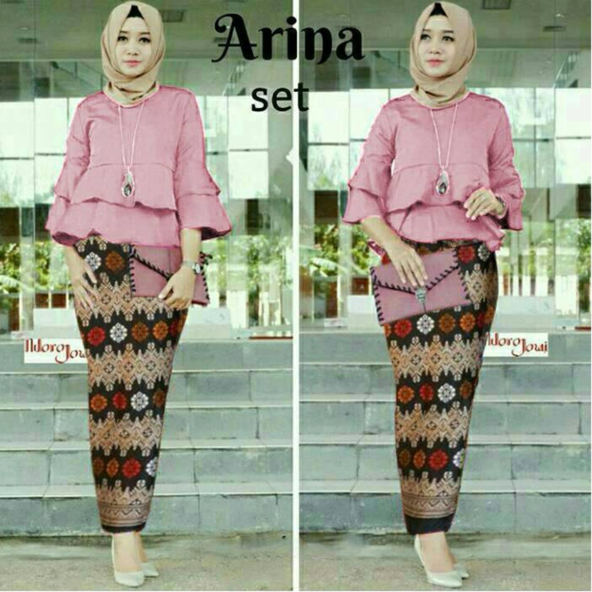 doublec fashion setelan arina glow dusty pink