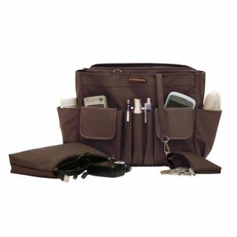 D'renbellony Bag Organizer Active MM (Brown) / Tas Organizer / Bag in Bag / Handbag Organizer / HBO Active