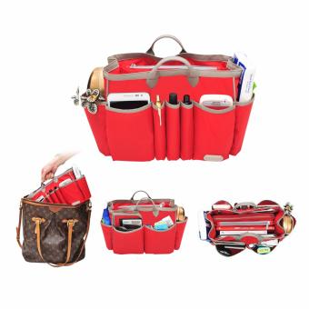 D'renbellony Handbag Organizer Light Large - Red / Bag Organizer light / Tas Organizer / Bag in Bag / Dalaman tas Drenbellony