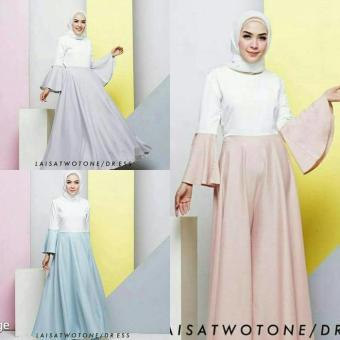 Cek Harga Baru Dress Polos Pastel Gamis Putih Baju Hijab Murah