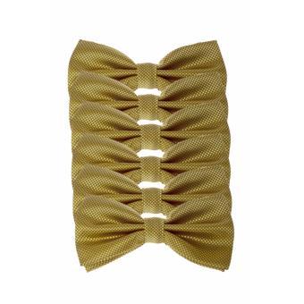 Elfs Shop - Dasi Kupu - Kupu Tekstur With Box 6Pcs-Gold