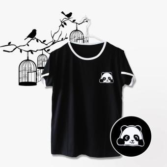 INC Ringer Tee / T-Shirt / Kaos Wanita Panda - Hitam