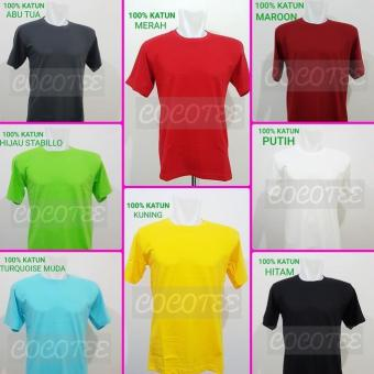 ELPITI Kaos Polos Jumbo Size / Big Size Katun Combed 20S 4XL / XXXXL