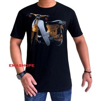 Ema Shope - Kaos T-Shirt Distro Atasan Pria Wanita Cotton Combed 30s Baju  Cewe ebdb385fc6