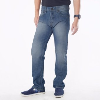 Emba Jeans Celana Panjang Pria BS 08A.1 Jordan Regular - Heavy Stone Medium