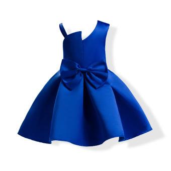 Eropa atau Amerika Pertunjukan Ulang Tahun Rok Putri Rok (Biru Tua) (Biru Tua