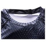 ... Eropa dan Amerika Serikat Olahraga T-shirt Lengan Panjang Pria Ular-kecepatan Kering Pakaian