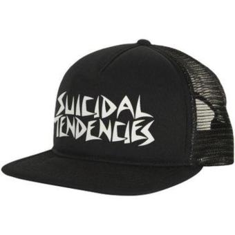 EXCLUSIVE Topi Trucker Half Jaring Custom Design SUICIDAL TENDENSIES Flock Print NAYCLOTH