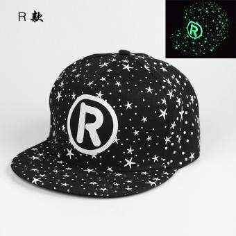 EXO Klub Malam Pria Dan Wanita Cahaya Fluoresensi Topi Hip Hop Bercahaya Topi (B177 R