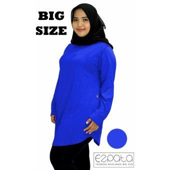 Ezpata Atasan Blouse Jumbo / Big Size Polos Wanita Bahan Kaos Rayon XXL - 4L-