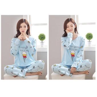 F Fashion Baju Tidur Wanita Ice Cream - Biru / Piyama Wanita / Baju Tidur Wanita
