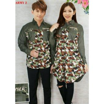 FASHION FLOWER-KEMEJA PASANGAN KEMEJA COUPLE BAJU COUPLE COUPLE FASHION KEMEJA COUPLE TUNIK ARMY NAVYSEAL