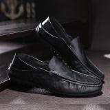 Fashion Memakai Sepatu Kulit Pria Mengendarai Mobil Sepatu Loafers Sepatu Kasual Baju Inggris-Internasional - 2