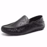 Fashion Memakai Sepatu Kulit Pria Mengendarai Mobil Sepatu Loafers Sepatu Kasual Baju Inggris-Internasional - 4