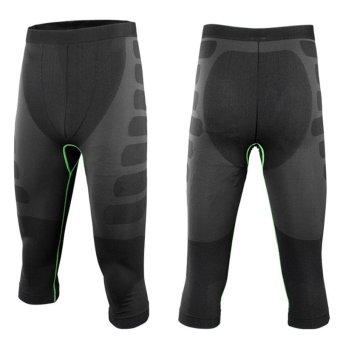 Fashion Laki-Laki Kompresi Lapisan Dasar Gigi Kencang Ruang Olahraga Memakai Celana Kaki M-