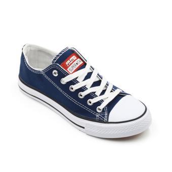 Faster Sepatu Sneakers Kanvas Wanita 1603-03 - Navy/White 36/40