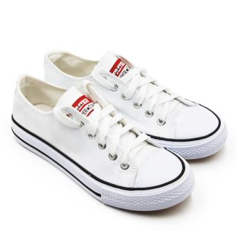 Faster Sepatu Sneakers Kanvas Wanita 1603-03 - Putih & Biru Size 36/40