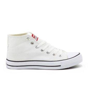 Bandingkan Toko Faster Sepatu Sneakers Kanvas Wanita 1603-04 - Putih harga baru - Hanya