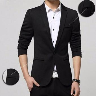 Fesyen Zone Blazer Instinct Black - Hitam