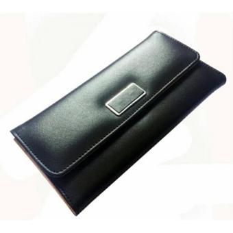 Fia Dompet Fashion Women's Wallets Hand Bag Ladies Three Fold Wallets - Hitam