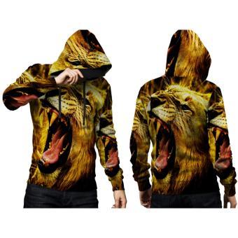 9be05e54 [Fikastore] Jaket Hoodie Sweater Pria Tema LION 3D Full Print Sublimation  PullOver - Art