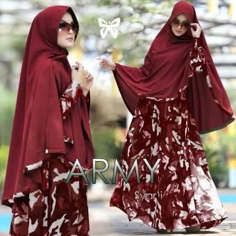 FJCO Army syari / Maxy dress / Dress muslimah / Pakaian muslimah / Baju muslim /