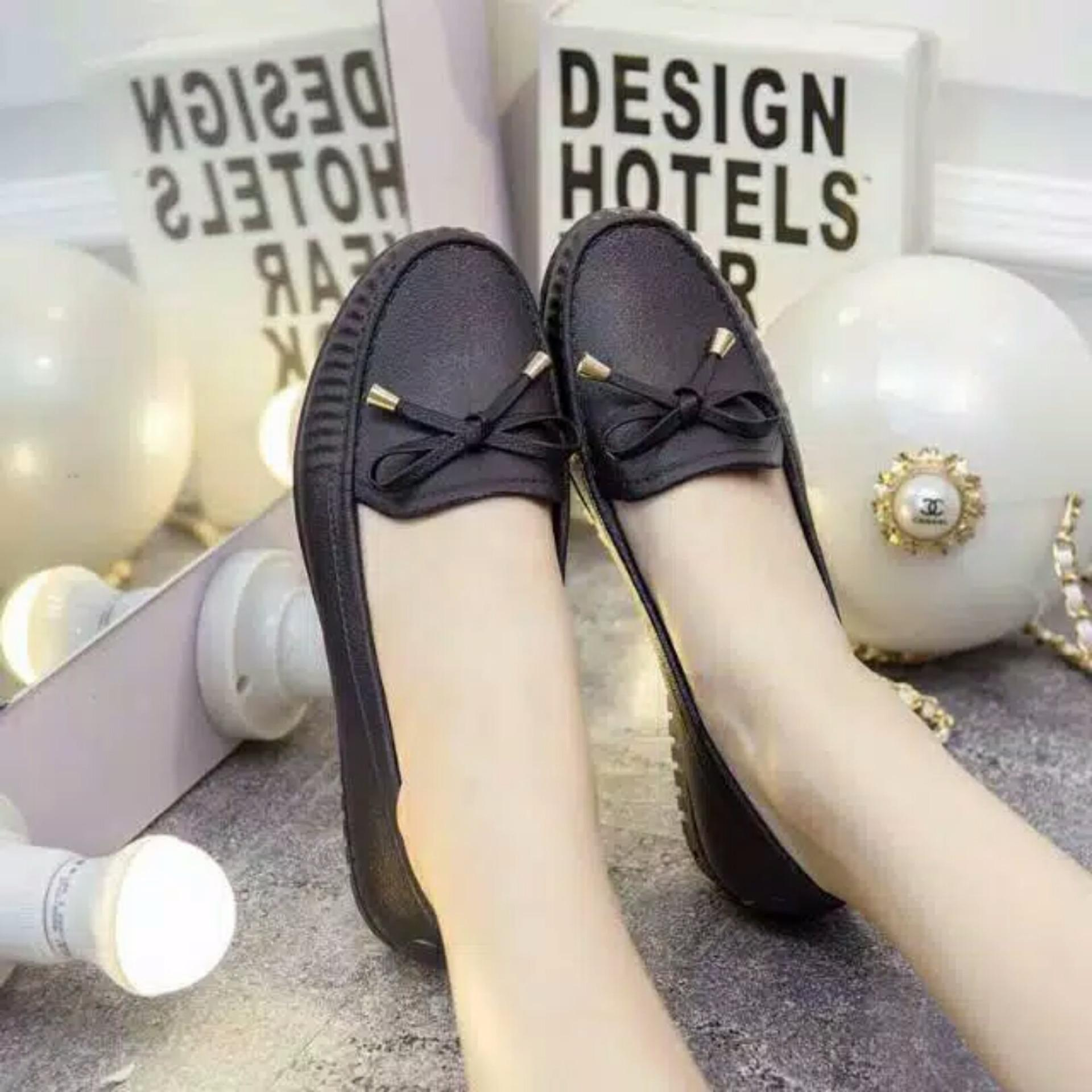 Bandingkan Toko Flat Jellyshoes Vintage PG8009-Black harga baru - Hanya Rp36.936