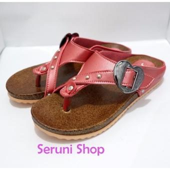 Flat Sandals Love Glam Pink